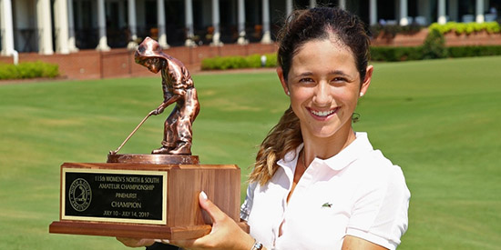 Isabella Fierro, the 2017 Women's North & South Amateur champion<br>(Pinehurst photo)