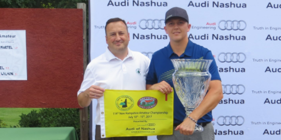 New Hampshire Amateur winner Mike Martel (R) <br>(NHGA Photo)