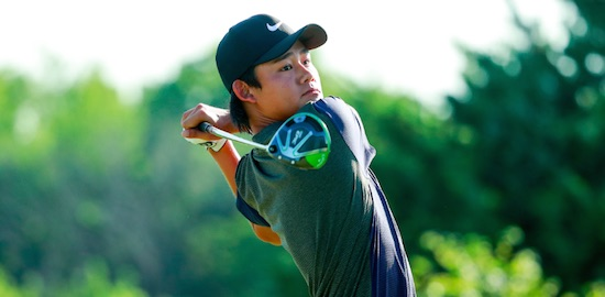 Kaito Onishi, who eagled his first hole of qualifying, is among the top 16