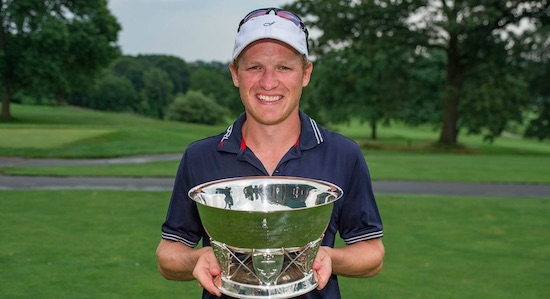 That's some nice hardware: Bobby Leopold was the first Mid-Am winner<br>of the New England Amateur since Jeff Hedden of Conn. won it in 2011