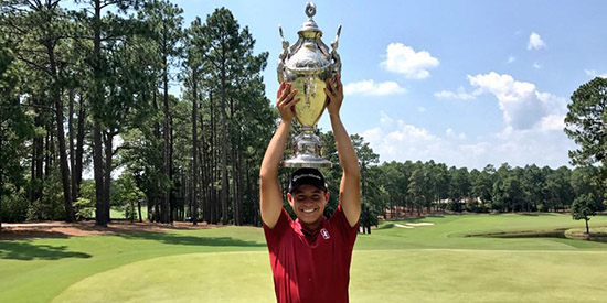 Karl Vilips, the 2017 Southern Amateur champion<br>(SGA photo)