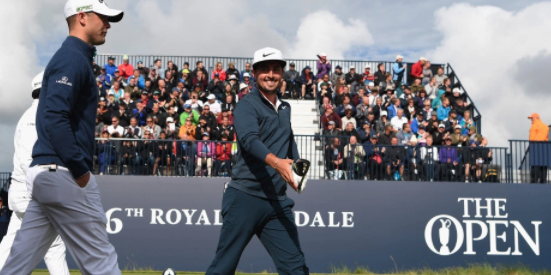 We saw Alfie Plant smile a lot this week at The Open Championship <br>(Golfweek Photo)