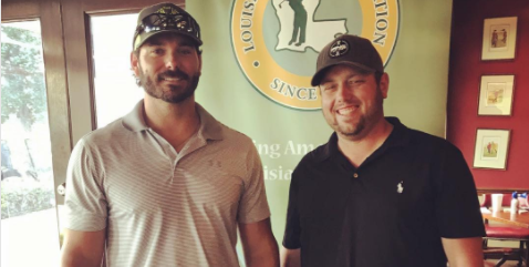 Louisiana Four-Ball winners Seth Dufrene and Justin Lowe <br>(LGA Photo)