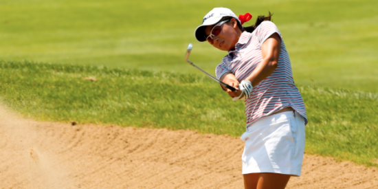 Mika Liu on day one of the U.S. Girls' Junior <br>(USGA Photo)