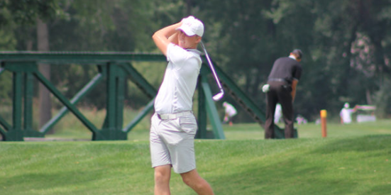 Broc Everett holds a three-stroke lead <br>(IGA Photo)