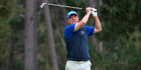 Randy Haag is 2-over after 18-holes <br>(NCGA Photo)