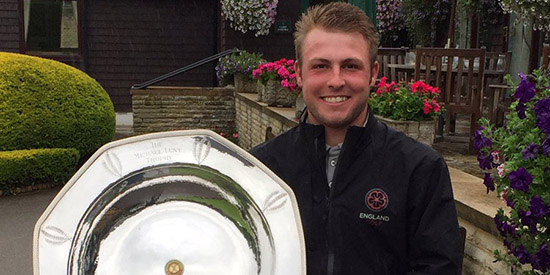 Jake Burnage, the 2017 South of England Open Amateur champion<br>(Golf Bible photo)