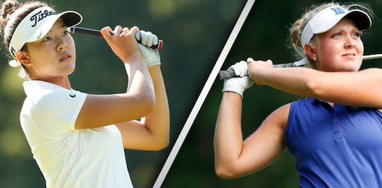 Jennifer Chang (L) and Erica Shepard (R) will square off in the title tilt <br>(USGA Photo)