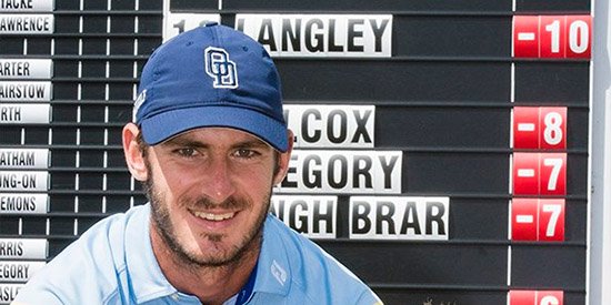 David Langley is double digits in the red<br>(English Golf Union photo)