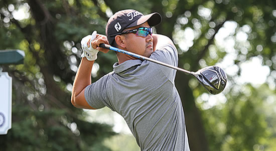 Western Amateur leader Ruben Sondjaja shot 64 today (WGA photo)