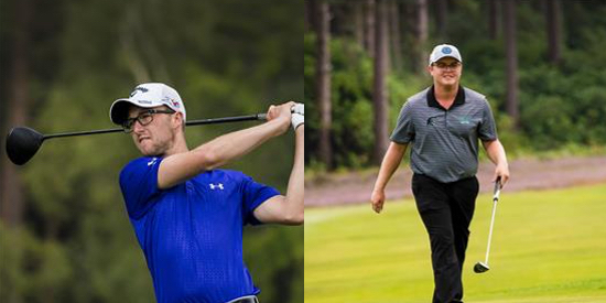 Nick Poppleton (left) and Harry Barley (right) [courtesy England Golf]