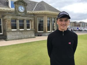 Scottish Men's Amateur champion Sam Locke