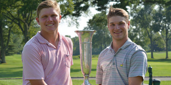 Will Voetsch and Thomas Urciuoli are the newest New Jersey Four-Ball champions<br>(NJSGA photo)