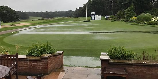 Gene Elliott posted this photo of the course when rain suspended play Wednesday