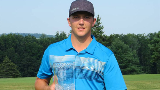 Mike Martel set four records on the was to his New Hampshire State Am win<br>(NHGA photo)