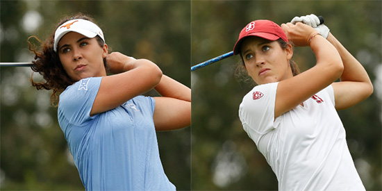 Sophie Schubert (L) and Albane Valenzuela (R)<br>(USGA photo)