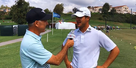 Garrett Rank with Pete Wlodkowski on the range at Riviera