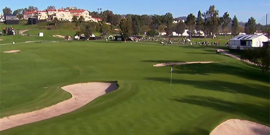 Riviera's 10th hole is where it will all start<br>(Golf Channel photo)