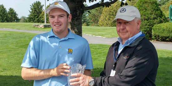 Sam Grindle (L) is the 2017 Maine Match Play champion<br>(MSGA photo)