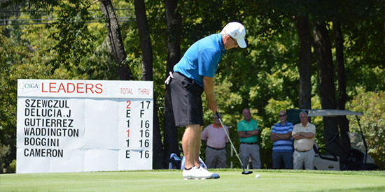 A familiar name in Connecticut golf found its way to the top of the<br>leaderboard at the Public Links Championship (CSGA photo)
