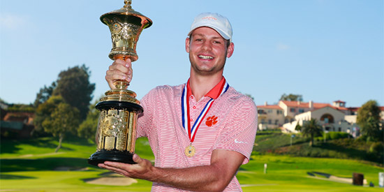 Doc Redman, the 2017 U.S. Amateur champion<br>(USGA photo)