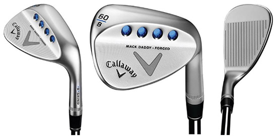 The Callaway Mack Daddy Wedge looks good from<br>any angle, but especially right behind the ball