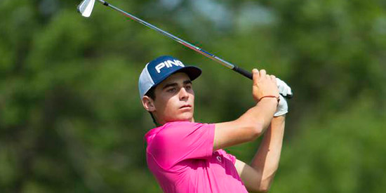 Joaquin Niemann joins a list of Mark H. McCormack medal<br>winners that includes Jon Rahm and Danny Lee (USGA photo)