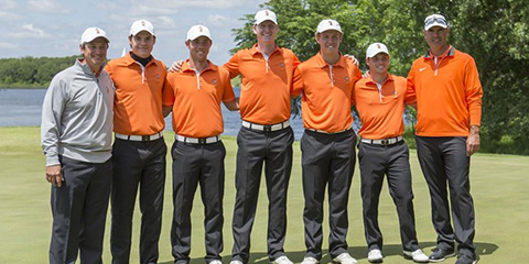 Oklahoma State won its record 12th NCAA Regional title in May<br>(Oklahoma State photo)