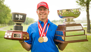 Todd Fanning with trophies
