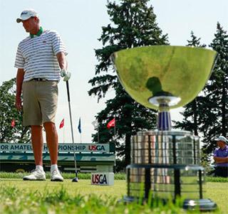Sean Knapp and the U.S. Senior Amateur trophy