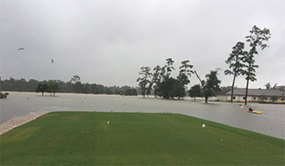 Flooded hole #1 at GC of Houston