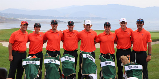 Three in a row for the Oklahoma State Cowboys at Pebble Beach<br>(Oklahoma State Twitter photo)