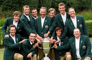 The victorious 2007 U.S. Walker Cup Team