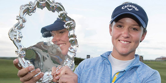 Linn Grant won her second major championship in Scotland at North Berwick<br>(R&A photo)