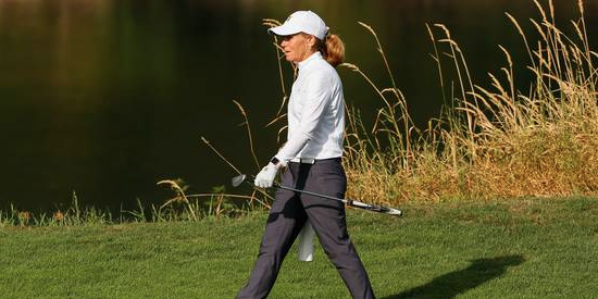 On Saturday Lara Tennant took another comfortable stroll at home <br>(USGA Photo)