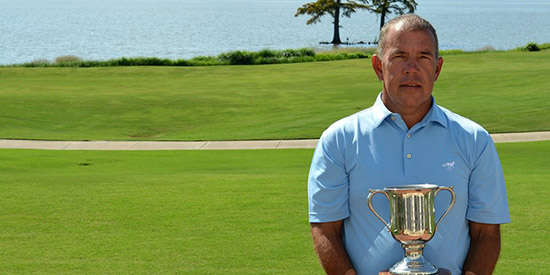 Buck Brittain, the 2017 Senior Open of Virginia champion<br>(VSGA photo)