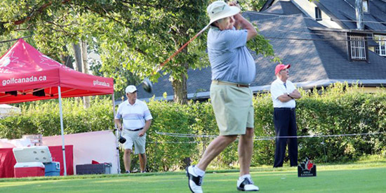 Paul Simson on his way to the Super Senior title<br>(Golf Canada photo)