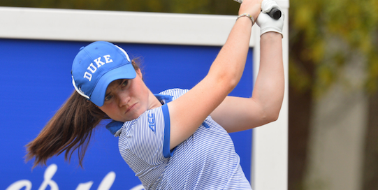 Leona Maguire won her eighth collegiate event on Tuesday <br>(Duke Athletics Photo)