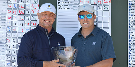 Josh Swanson and Riley Pumphrey won by eight shots at Bayonet Blackhorse<br>(Trans-Miss photo)