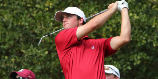Davis Riley of Alabama finished at 10 under<br>(Alabama Athletics Photo)