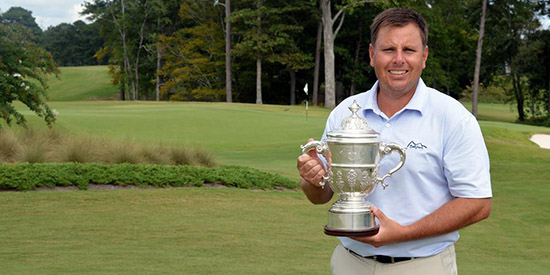 Justin Young, the 2017 VSGA Mid-Amateur champion<br>(VSGA photo)