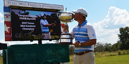 Colby Harwell has won the TX Mid-Am Match and Stroke Play titles this year (TGA photo)