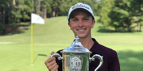 Cole Ponich, the 2017 Bobby Chapman Junior champion<br>(SCJGA photo)