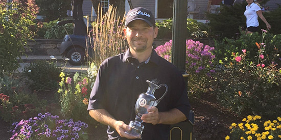 Peter Wright, the 2017 Maine Mid-Amateur champion<br>(MSGA photo)