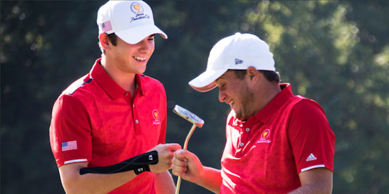 Team USA had a lot to celebrate on day one o the Junior Presidents Cup <br>(AJGA Photo)
