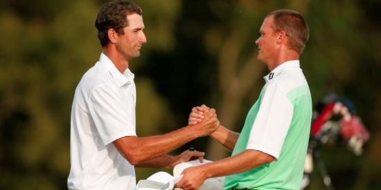 Last year Stewart Hagestad (L) rallied to defeat Scott Harvey (R) <br>in an epic final match <br>(USGA Photo)