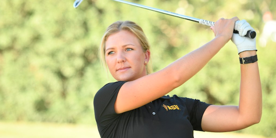 Linnea Strom finished second for ASU <br>(ASU Athletics Photo)