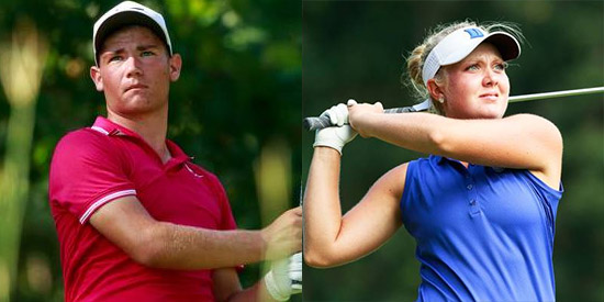 U.S. Junior Amateur winner Noah Goodwin and U.S. Junior Girls' winner <br> Erica Shepherd are now exempt in the U.S Open and U.S. Women's Open <br>(USGA Photo)