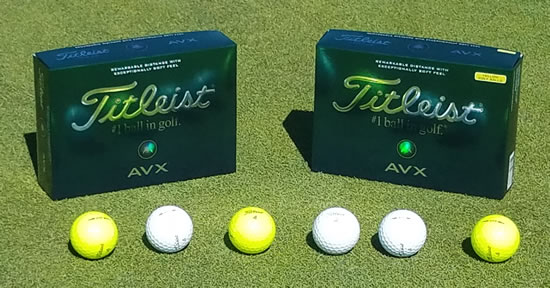 Titleist AVX Balls, Shown at Alameda, California's Chuck Corica G.C.