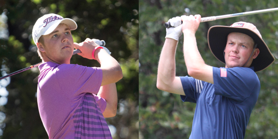 First round co-leaders Canon Claycomb (L) and Joe Highsmith (R) <br>(AJGA Photo)
